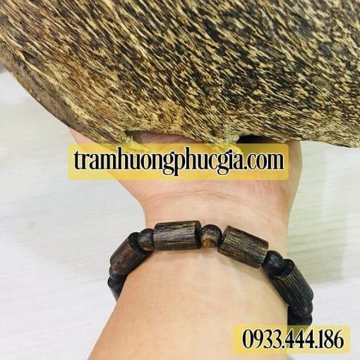 Vòng Tay Trầm Hương Sánh Trúc 004